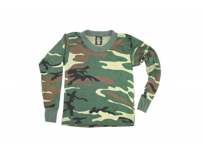 Dětské triko s dlouhým rukávem značky Tee Swing - woodland