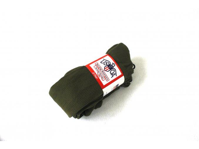Armádní ponožky Anti-Microbial-US Army- oliv