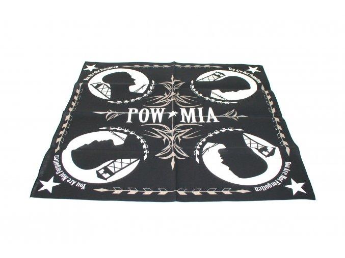 Šátek s čtvercovým potiskem - POW MIA