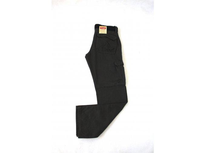 Pánské kalhoty Wrangler Twill Cargo s opaskem - tmavě šedé