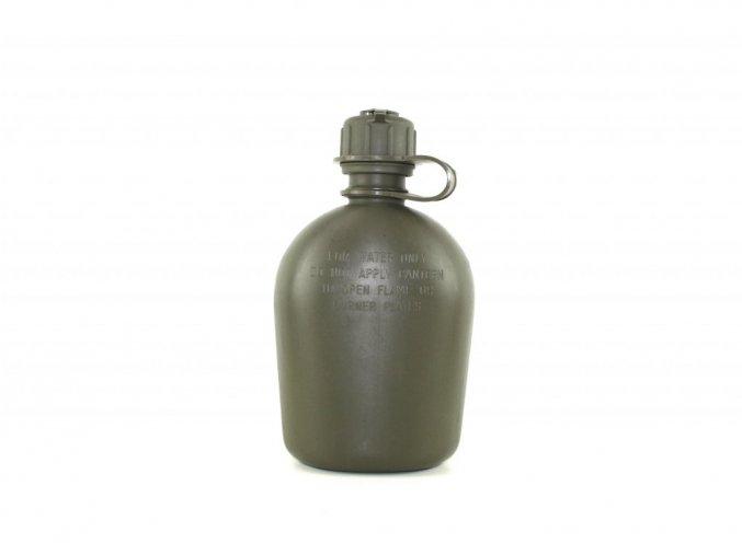 Polní láhev bez obalu s ventilem na masku US - oliv