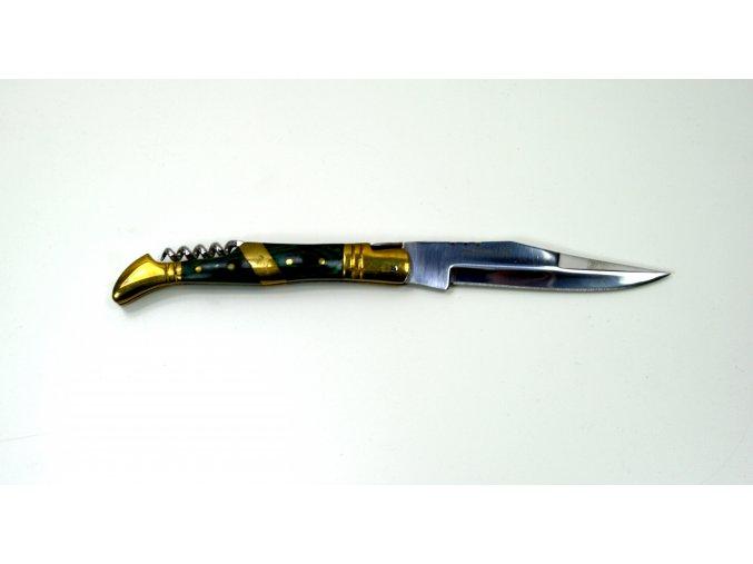 Nůž zavírací Laguiole US zlato-zelený