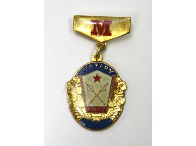 Odznak SVAZARM KDPZ M.