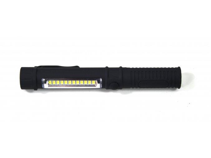 Svítilna, baterka LED plastová - černá