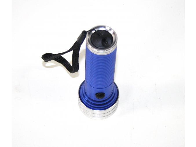 Svítilna, baterka 14LED - modrá