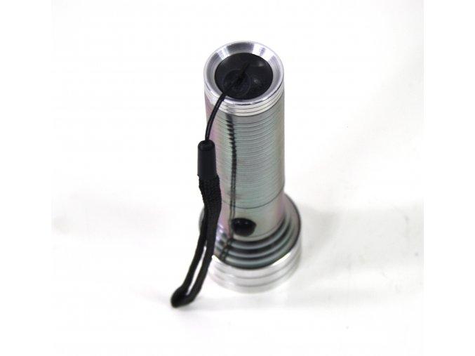 Svítilna, baterka 14LED - nerez