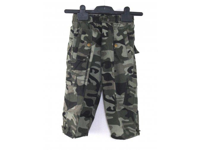 Dětské 3/4 kalhoty - tmavý woodland