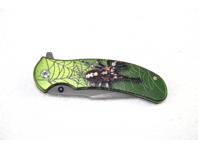 Kapesní nůž s klipem - pavouk