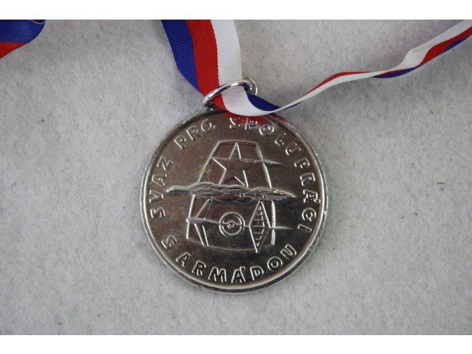 Medaile, ocenění, plaketa Svaz pro spoluprací s armádou - stříbrná