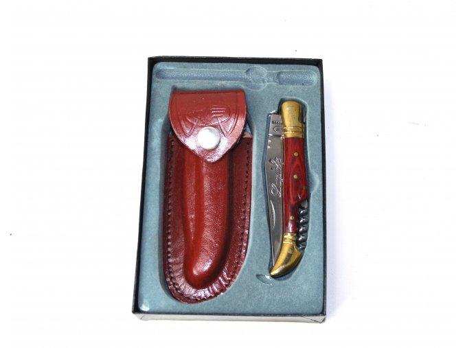 US Laguiole Nůž zlato-červený