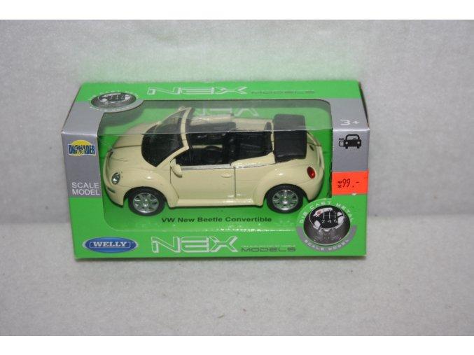 Autíčko kovové VW New Beetle Convertible