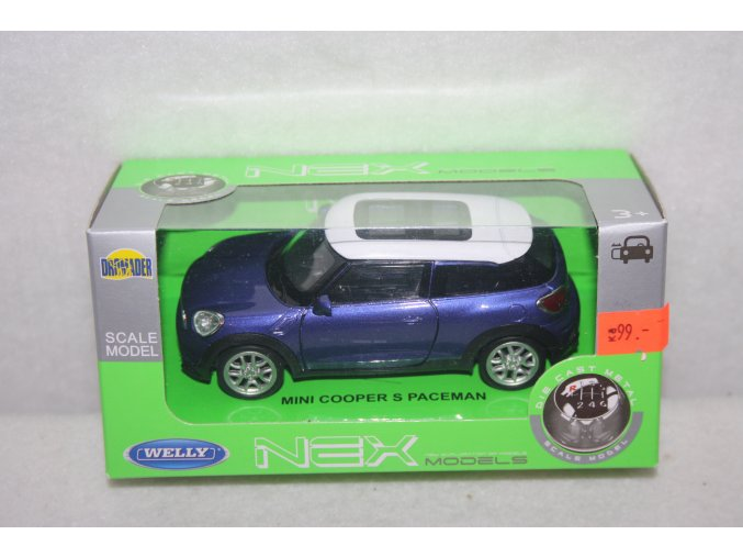Autíčko kovové Mini Cooper S Paceman