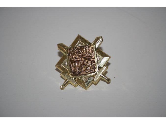 Odznak AČR na čepici - stříbrný, zlatý