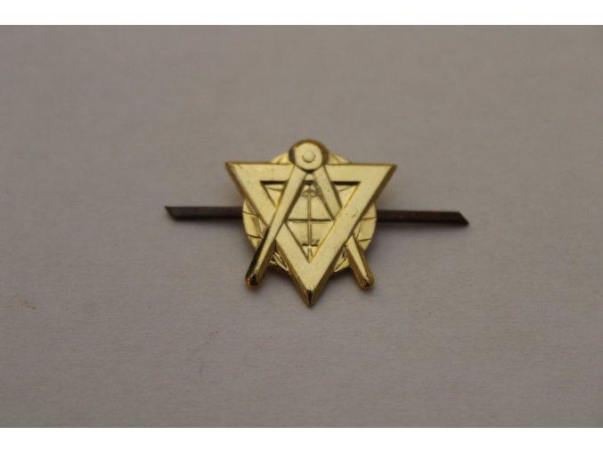 Odznak ČSLA topograf, zlatý, stříbrný