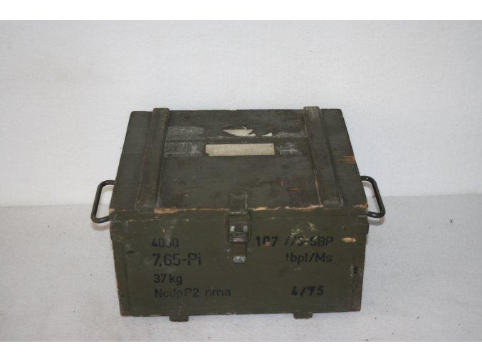 Bedna dřevěná muniční 37 kg