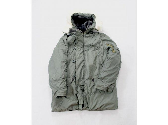 Bunda (kabát, parka) N3B aljaška US - foliage