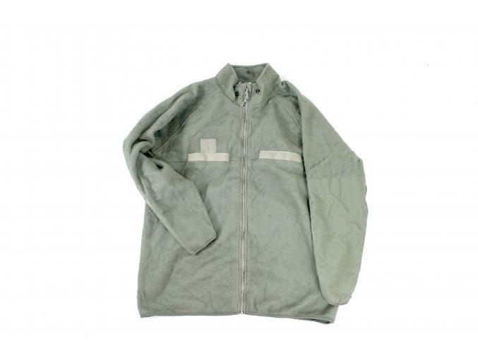 Bunda, mikina fleece US Polartec GEN III.- olive