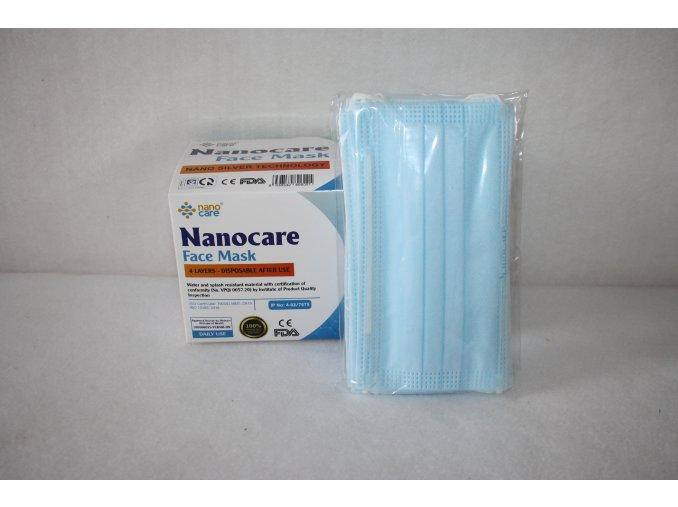 Roušky jednorázové dospělí Nanocare - modrá