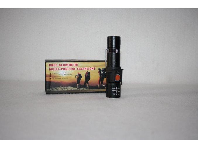Svítilna, baterka FLASHLIGT ZOOM - černá