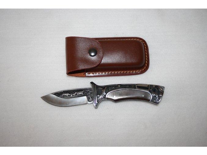 Nůž kapesní s klipem gravírovaný - kozoroh