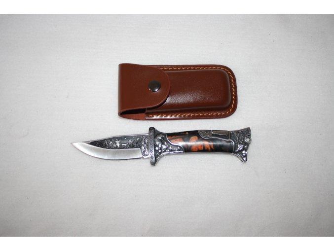 Nůž kapesní s klipem, gravírovaný - lovecký