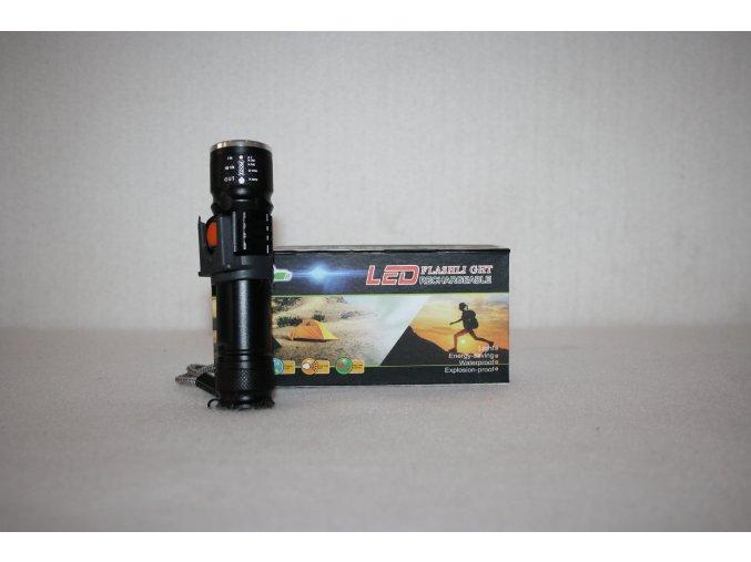 Svítilna, baterka LED/ZOOM, dobíjecí USB HT-1615
