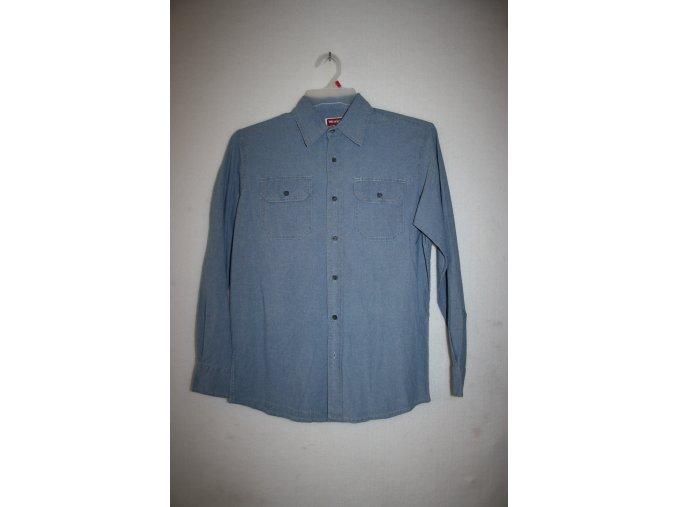 Košile pánská WRANGLER dlouhý rukáv DENIM - světle modrá