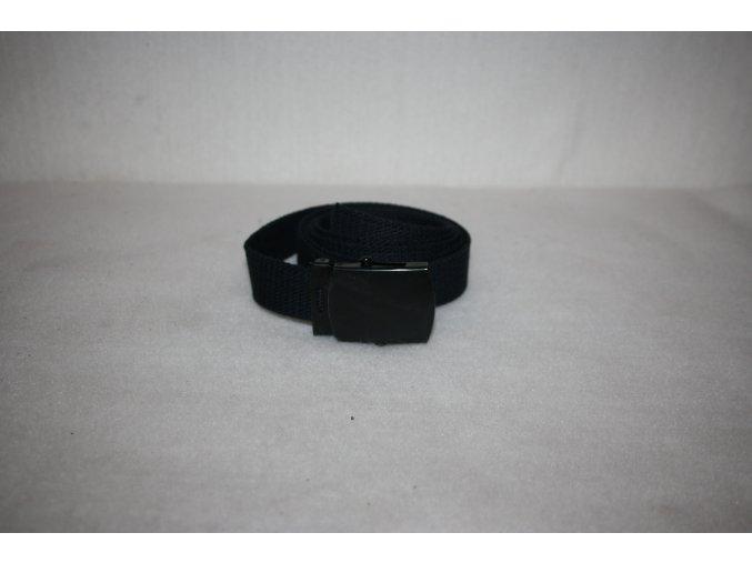 Opasek, pásek bavlněný s kovovou přezkou USA - černý