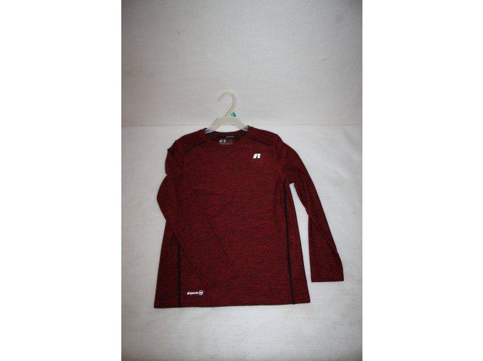 Dětské funkční triko s dlouhým rukávem Russell - červené