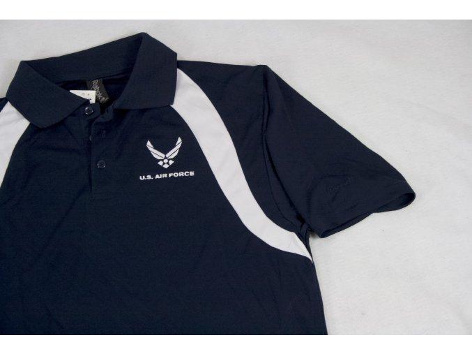 Tričko, triko  polo Reebok U.S. Air Force - modrobílé
