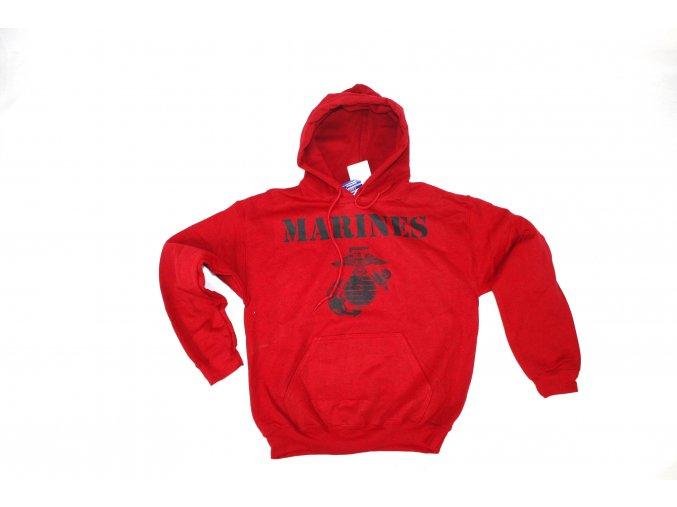 Mikina Gildan Marines červená