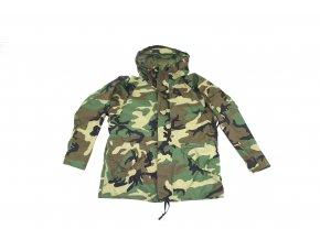 Parka, bunda v provedení Goretex  Cold Weather, Universal Camouflage- woodland