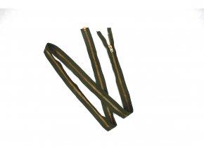 Zip mosazný YKK - zelený 190 cm