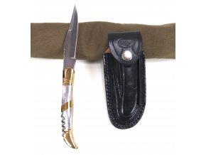 US Laguiole Nůž zlato-stříbrný