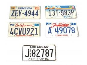 Poznávací značka na auto USA - originál
