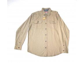 Košile pánská Wrangler dlouhý rukáv Stretch Twill - béžová
