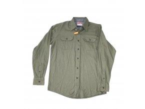 Košile pánská Wrangler dlouhý rukáv Stretch Twill - zelená