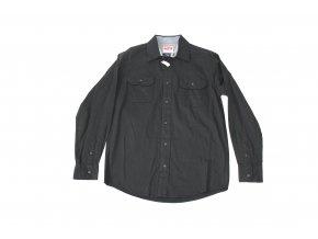 Košile pánská Wrangler dlouhý rukáv Stretch Twill - černá