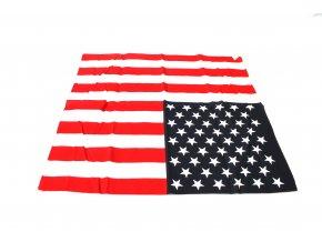 Šátek s čtvercovým potiskem - vlajka USA