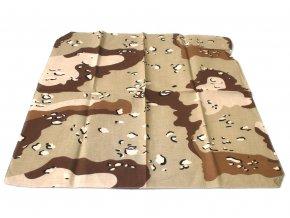 Šátek s čtvercovým potiskem - 6 desert