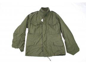 Polní kabát,bunda M65 originál, plastový zip, rok 1987 US ARMY - oliv