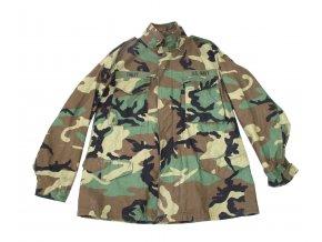 Polní kabát, bunda M 65 US Field Cold Weather, originál - woodland