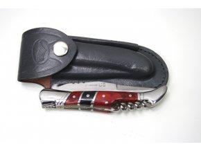 Zavírací nůž Laguiole US stříbro-červený