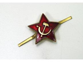 Odznak CCCP na čepici - hvězda