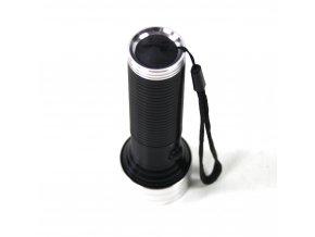 Svítilna, baterka 14LED - černá