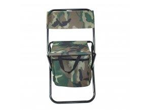 Židlička, stolička skládací, malá - woodland