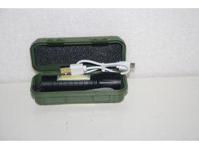 Svítilna, baterka ZOOM, LED - černá