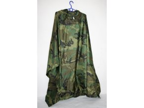 Pončo, Poncho WET WEATHER,COATED NYLON, RipStop WOODLAND