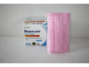 Roušky jednorázové dospělí Nanocare - růžová