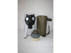 Maska plynová CO-1 ČSLA, kompletní